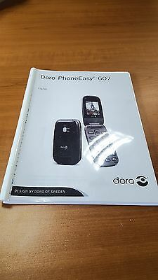 Doro Phone Easy 607  Printed Instruction Manual User Guide 63 Pages
