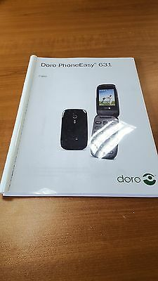 Doro Phone Easy 631 Printed Instruction Manual User Guide 60 Pages
