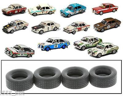 New Scalextric W9271 Ford Escort MK1 RS1600 RS2000 Mexico & MK2 Rally Tyres