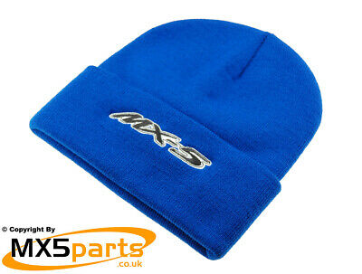 e4604301630 OFFICIAL MAZDA MX5 Merchandise Blue Beanie Hat With MX-5 Logo ...