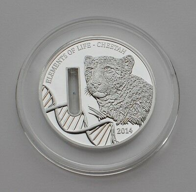 CHEETAH 2014 Republic of Congo - Elements of Life Coin Silver Proof