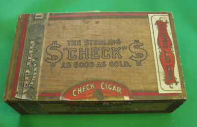 1897 The Sterling Check Rock city Cigar Box Levis Quebec Canada