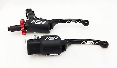 ASV F3 Pro Pack Black Unbreakable Folding Brake + Clutch Levers TRX LTZ LTR KFX