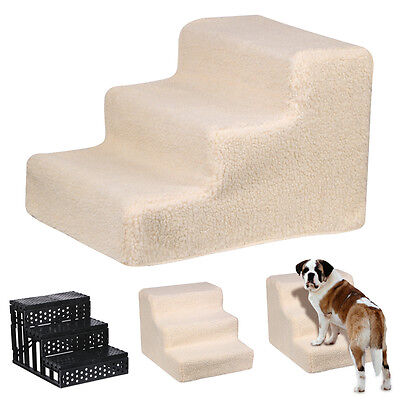 Dog Cat Pet STEP Little Older Doggy 3 Steps Stairs with Washable Cover