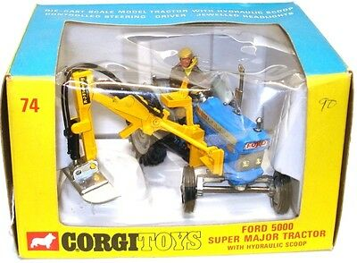 Corgi No. 74 Ford 5000 Super Major Tractor & Side Mounted Trencher - Mint Boxed