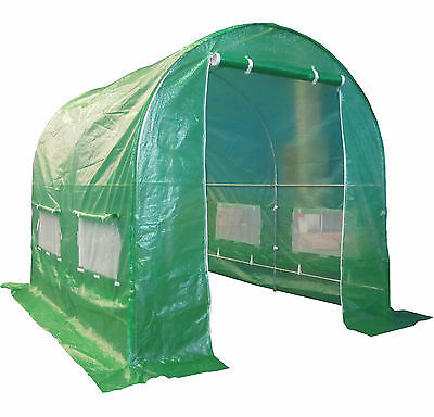 Galvanised Steel Frame Polytunnel Greenhouse Pollytunnel Poly Tunnel 3m x 2m