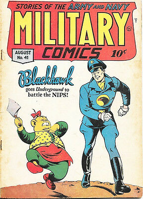 Military Comics Comic Book #41, Quality Comics 1945 VERY GOOD