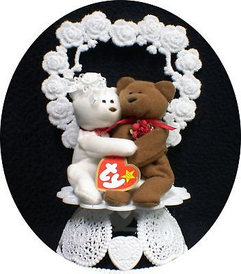 TY BEANIE BABY Babies Wedding Cake topper Collector top funny teddy bears