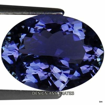 Tanzanite  Oval  Cut  Natural Gemstone 8 X 6 Mm Aaa