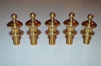 5 solid brass antique style rope edged lamp finial furniture clock fitting RR1