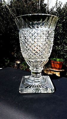 """Westmoreland ENGLISH HOBNAIL CLEAR Vase 7½"""" Tall X 4½"""" Across Top"""