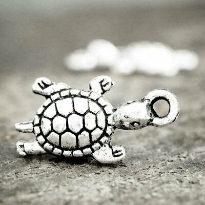 *Lot 30 Charms En Alliage Zinc 23x10x4mm SADIY Turtle Argent Tibétain TS0531*