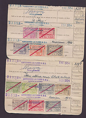 Argentina 1954 $0.75 - $200 SOCIAL SECURITY Revenues range on worksheets-FU