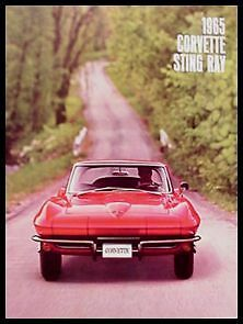 1965 Chevy Corvette Sting Ray Color Sales Brochure, C2 MINT 65 GM New