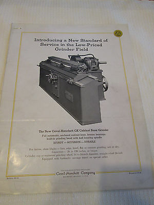 Covel-Hanchett Co. Big Rapids, MI GK Base Grinder -tool, metal working D