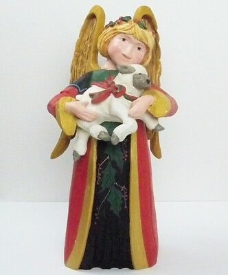 LARGE House of Hatten DENISE CALLA Mantel Figurine ANGEL With LAMB