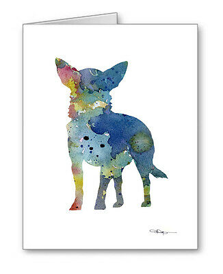 BLUE CHIHUAHUA Note Cards With Envelopes