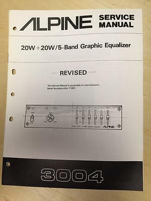 Alpine Service Manual for the 3004 Graphic Equalizer