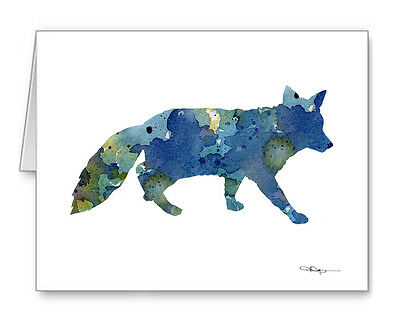 BLUE FOX Note Cards With Envelopes