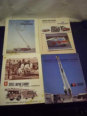 Lot of 4 Fire Truck Brochures LaFrance