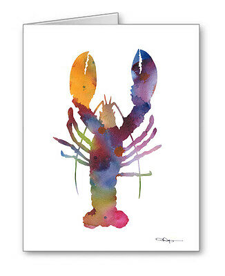LOBSTER Note Cards With Envelopes