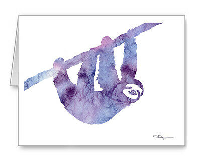 SLOTH Note Cards With Envelopes