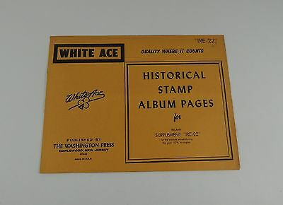 """White Ace Ireland Supplement """"IRE-22"""" 1979 Historical Stamp Album Pages Singles"""