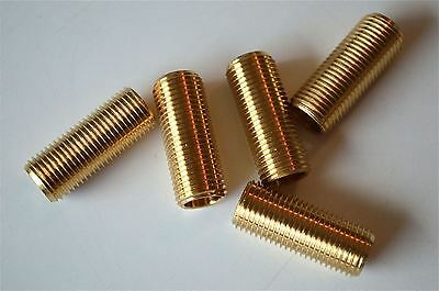 5 pieces 1 inch lengths of 10mm hollow threaded bar 25mm lamp fitting thread RR5