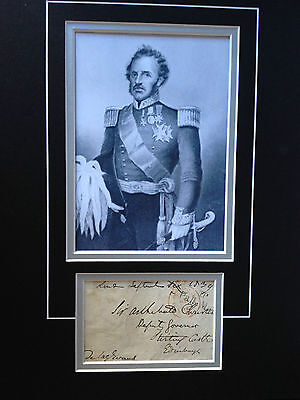 George De Lacy Evans - Battle Of Waterloo Officer - Signed Photo Display