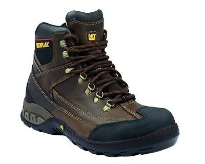 MENS CAT CATERPILLAR DYNAMITE S3 WATERPROOF STEEL TOE CAP SAFETY BOOTS - Brown