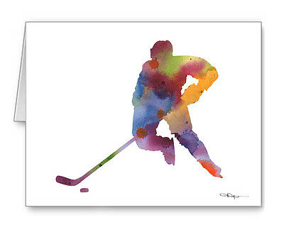 HOCKEY PLAYER Note Cards With Envelopes