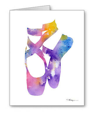 BALLET SLIPPERS Note Cards With Envelopes