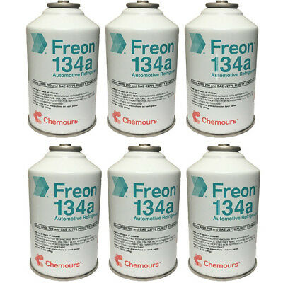 DuPont Suva / Chemours R-134a Automobile Refrigerant - 6 Cans (6 - 12oz. Cans)