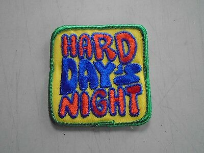 """The Beatles / Vintage Iron-On Patch """"Hard Days Night"""" / Exc. New cond.  3 x 3"""""""