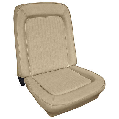 Bronco Seat Upholstery Front Buckets Parchment 1966