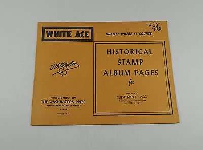 White Ace Vatican City Supplement V33 1982 Historical Stamp Album Pages Singles