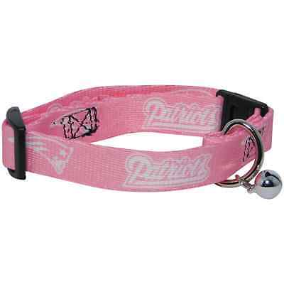 NEW NEW ENGLAND PATRIOTS PINK ADJUSTABLE SAFETY CAT COLLAR w/ BELL LICENSED