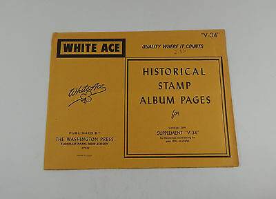 White Ace Vatican City Supplement V34 1983 Historical Stamp Album Pages Singles