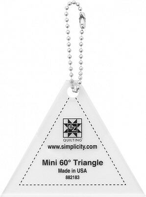 EZ Mini 60 Degree Triangle Quilting Template Keychain (882183)