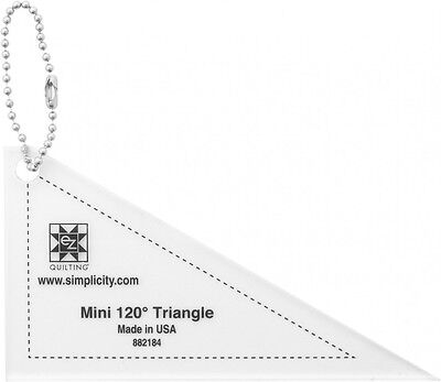 EZ Mini 120 Degree Triangle Quilting Template Keychain (882184)