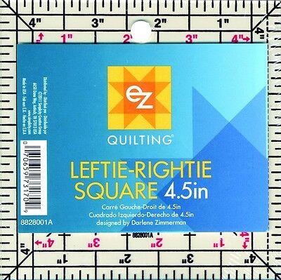 EZ Leftie Rightie Square Acrylic Quilting Template (8828001A)