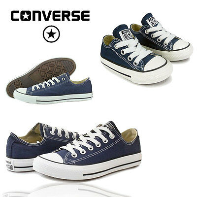 Converse Navy Ladies Mens Kids All Stars Boys Girls Chuck Taylor Trainers Shoes