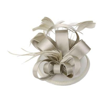 Wedding Ladies Day Race Royal Ascot Feather Headpiece Fascinator Hair Clip
