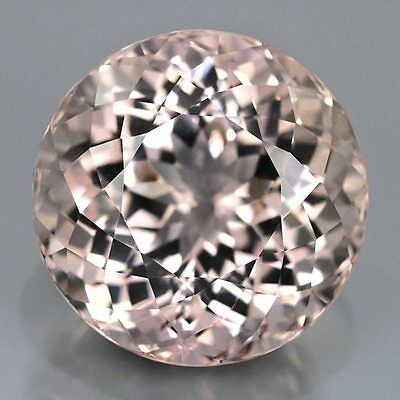 Morganite Round Cut 3 Mm All Natural Soft Pink