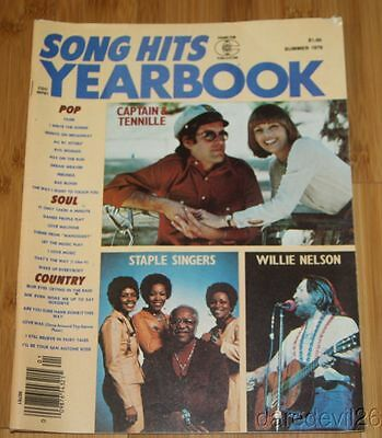 Vintage Summer 1976 SONG HITS YEARBOOK magazine WILLIE NELSON CAPTAIN & TENNILLE