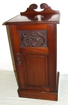 Antique VICTORIAN Mahogany Pot Cupboard Lamp Stand Magazine Rack Bedside Cabinet