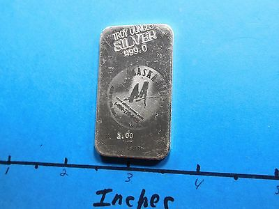 Alaska Mint Assay Commercial Style Variety Vintage 999 Silver Bar Rare To Find