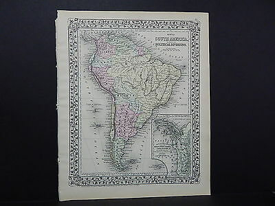 1874 Mitchell's New General Atlas South America R7#25