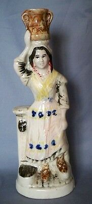 Continental Bisque Figure of Lady Carrying Water  c 1910