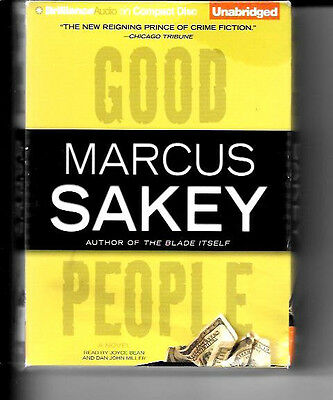 Good People by Marcus Sakey 2008 CD, Unabridged Crime Mystery Thriller Like New